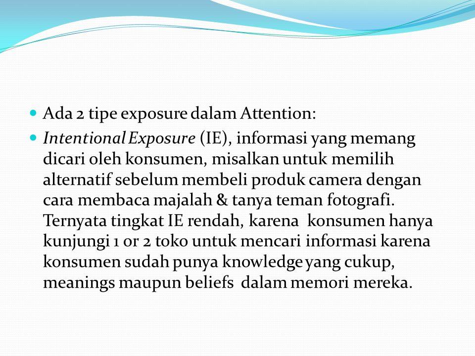 Ada 2 tipe exposure dalam Attention: