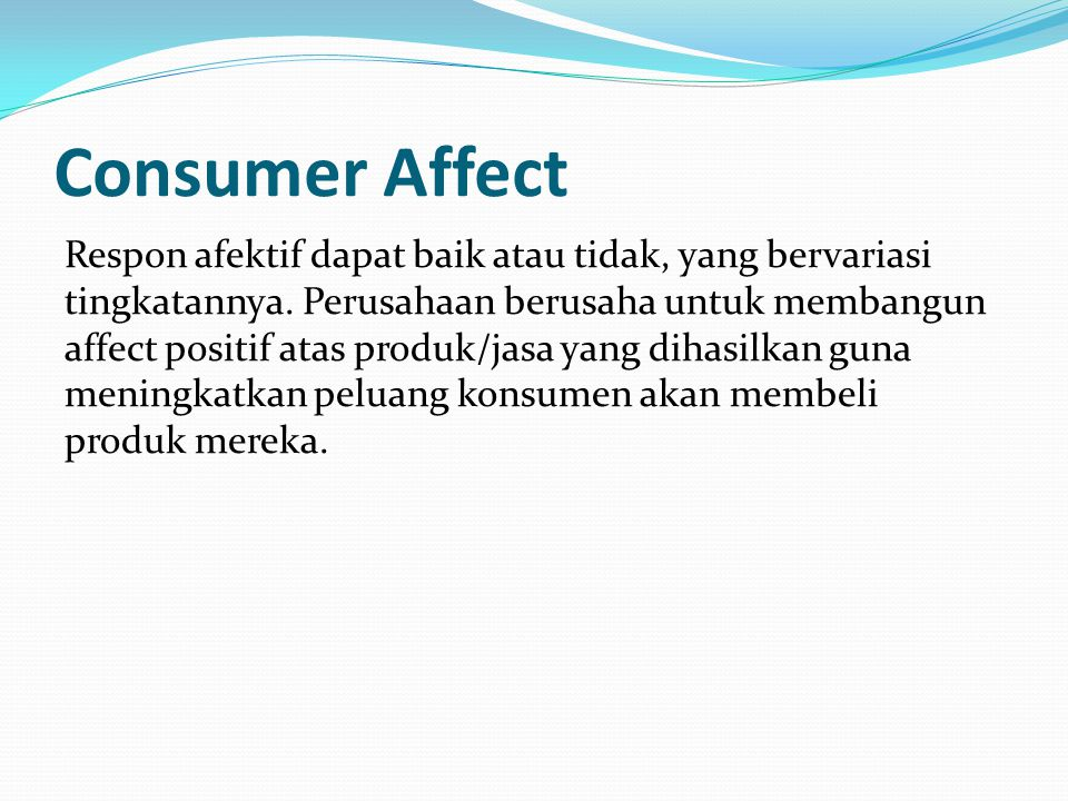 Consumer Affect