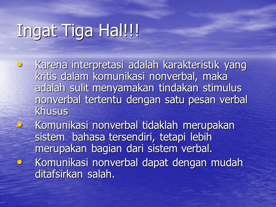 Ingat Tiga Hal!!!