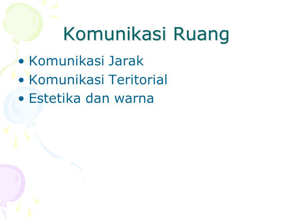 Komunikasi Ruang Komunikasi Jarak Komunikasi Teritorial
