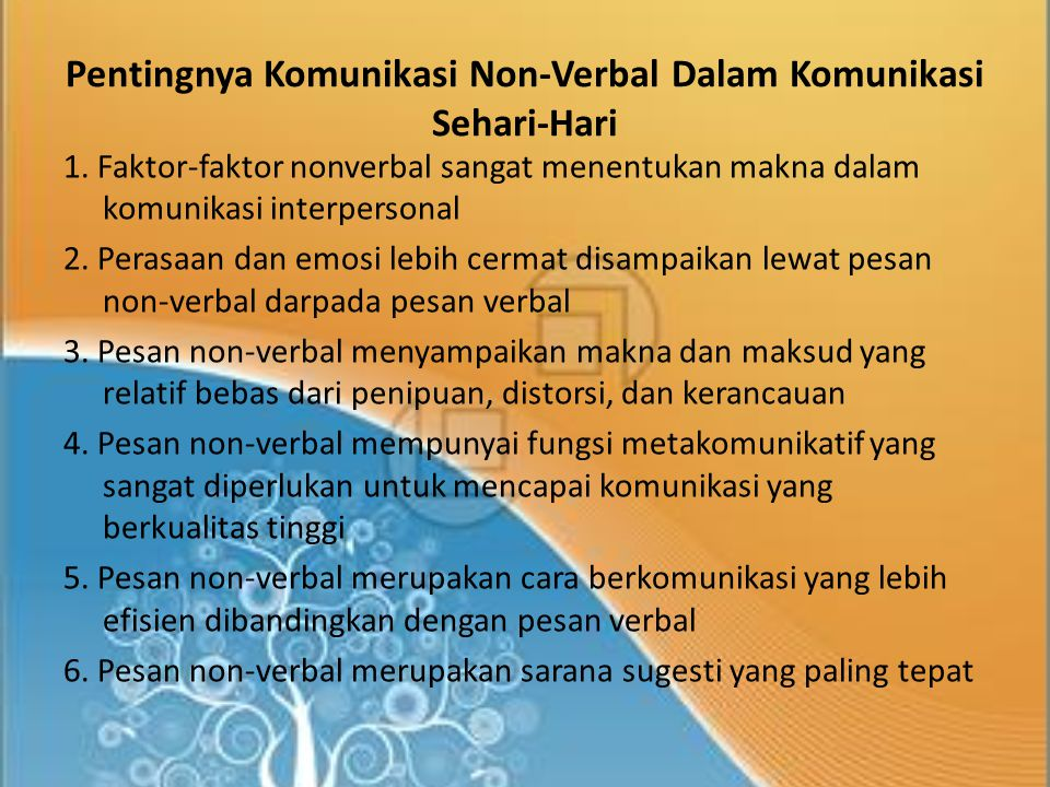 Pentingnya Komunikasi Non-Verbal Dalam Komunikasi Sehari-Hari