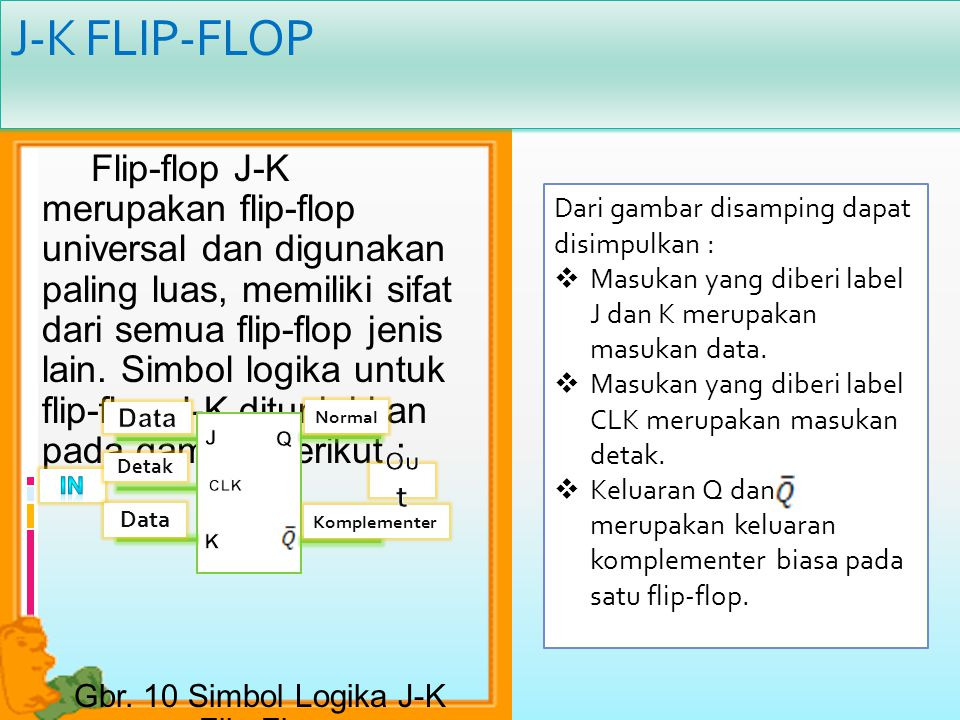 Gbr. 10 Simbol Logika J-K Flip-Flop
