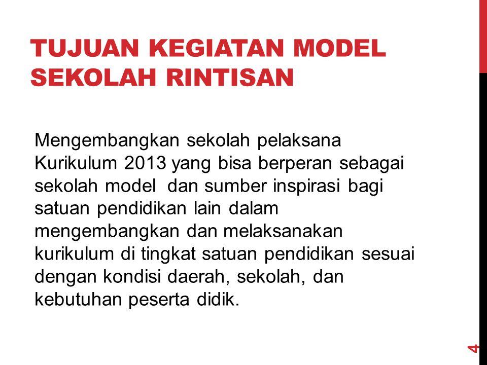 Tujuan kegiatan model sekolah rintisan