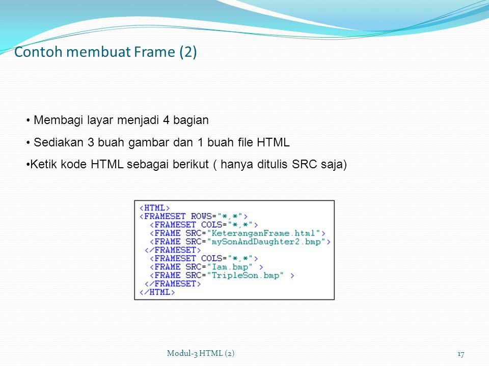 Contoh membuat Frame (2)
