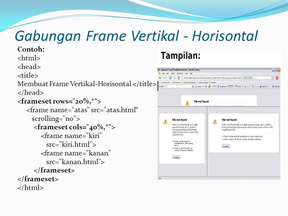 Gabungan Frame Vertikal - Horisontal