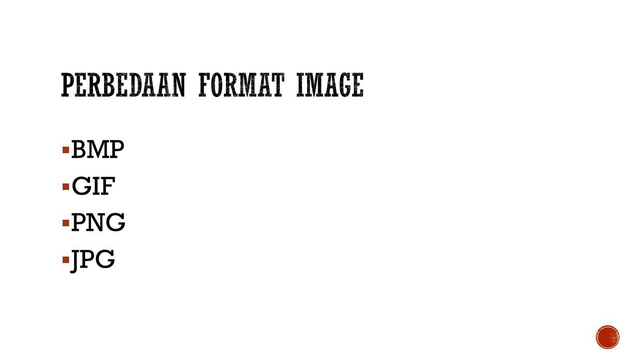 Perbedaan Format Image