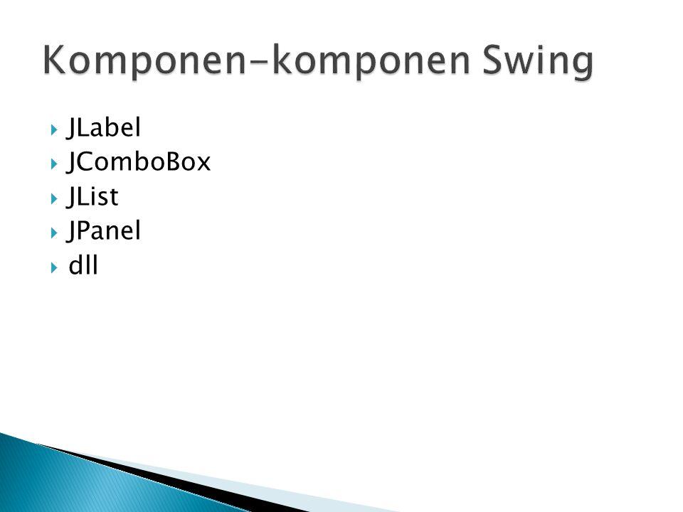 Komponen-komponen Swing