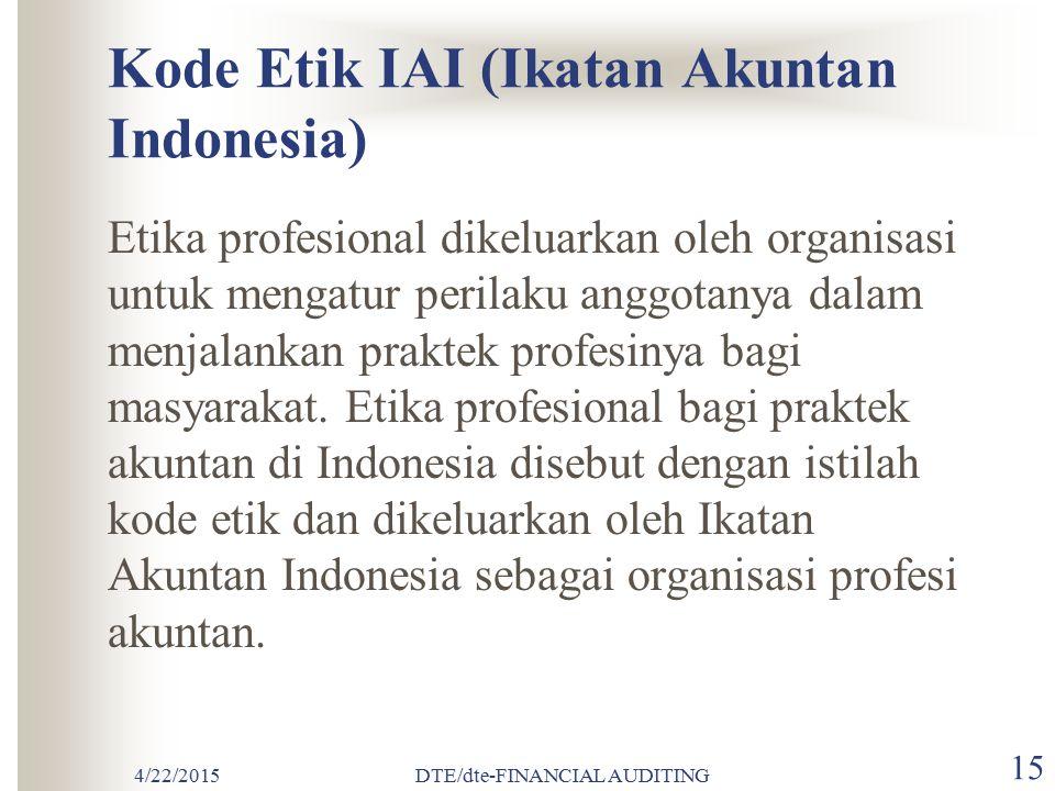 Kode Etik IAI (Ikatan Akuntan Indonesia)