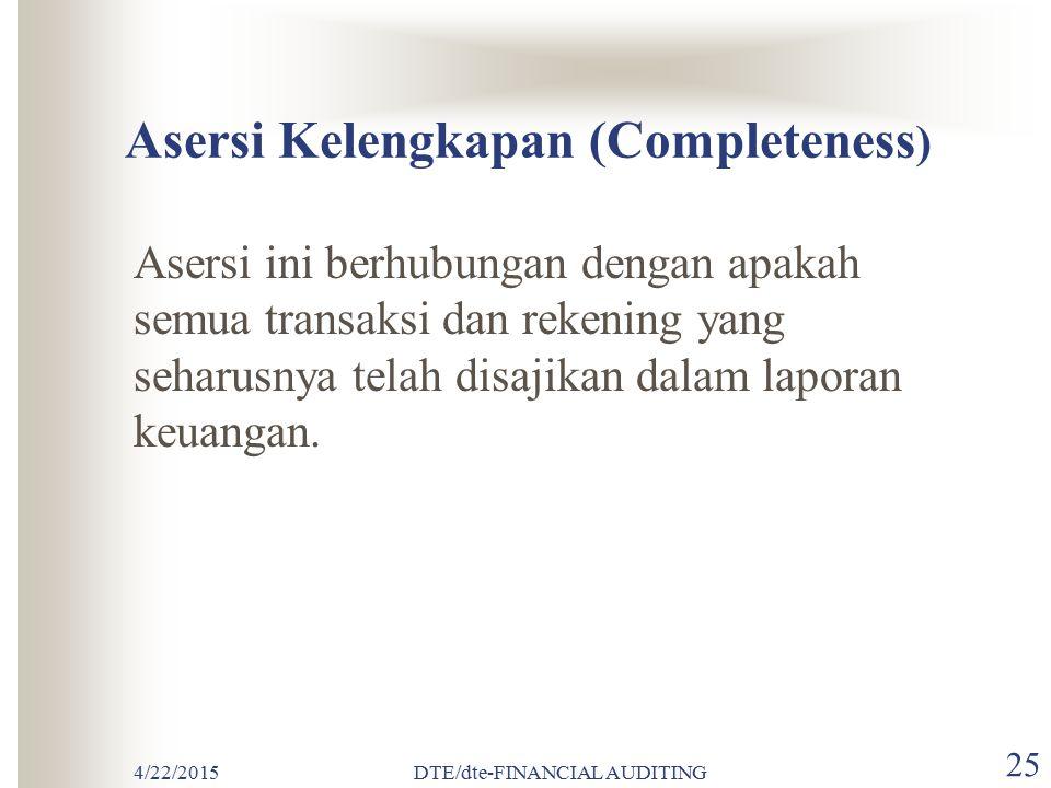 Asersi Kelengkapan (Completeness)