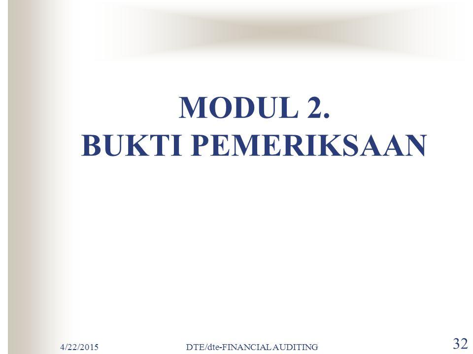 MODUL 2. BUKTI PEMERIKSAAN