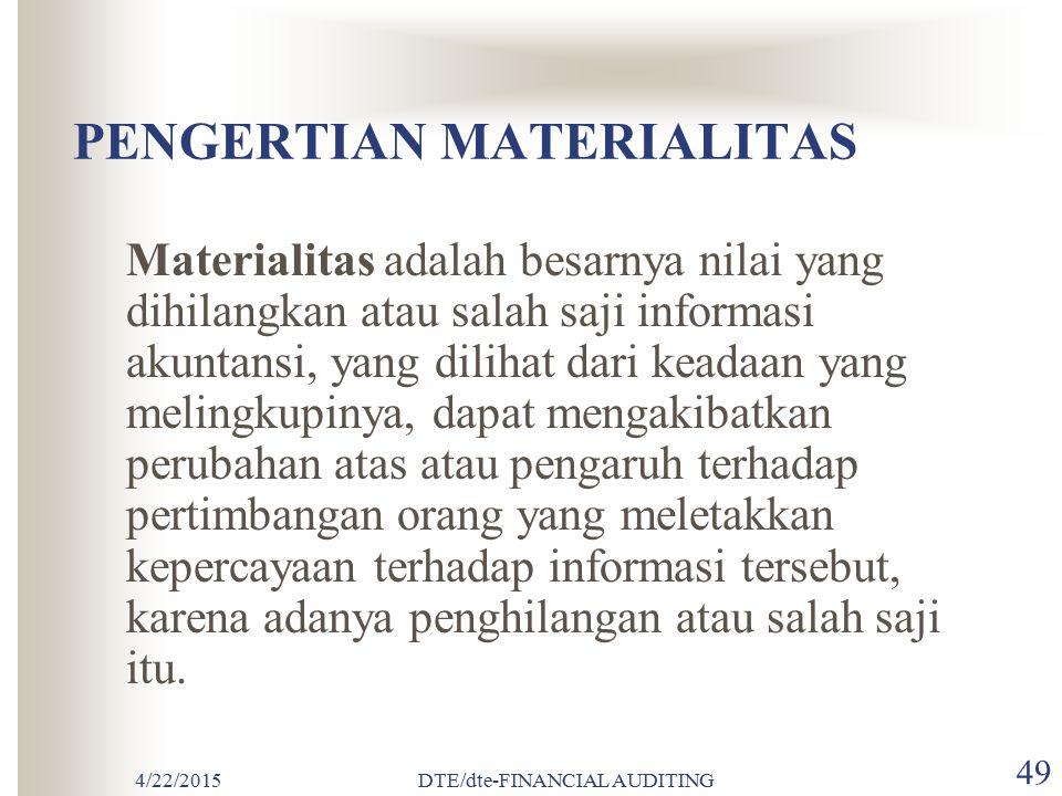 PENGERTIAN MATERIALITAS