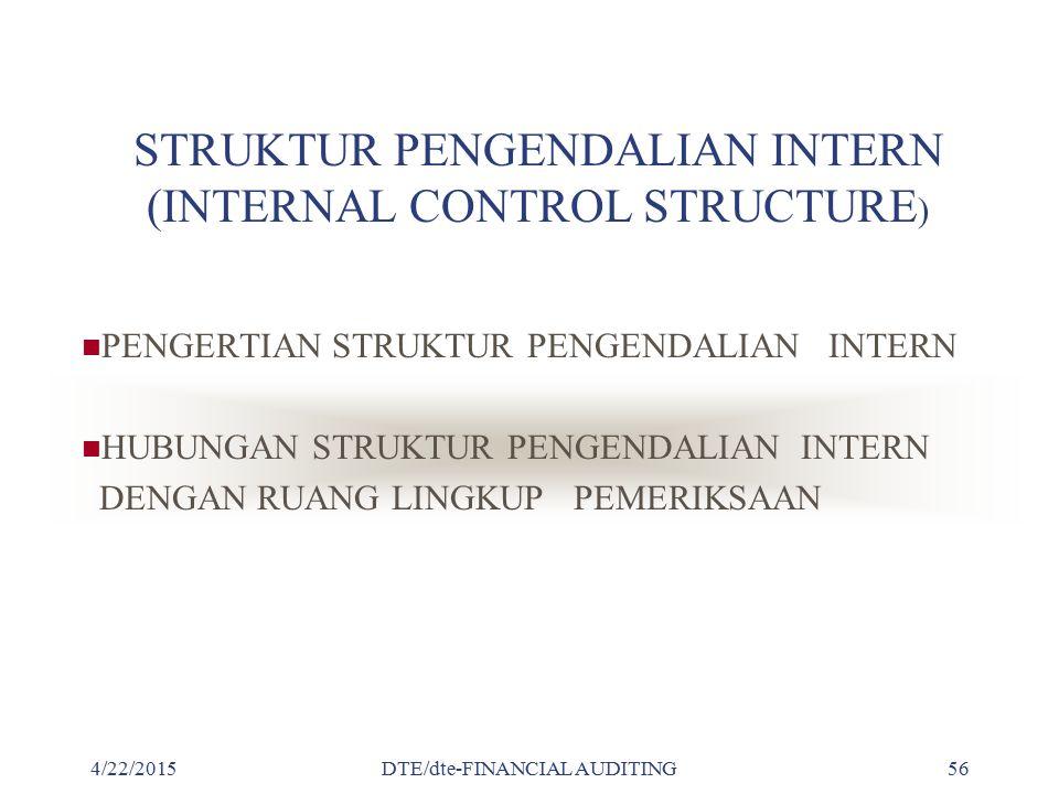 STRUKTUR PENGENDALIAN INTERN (INTERNAL CONTROL STRUCTURE)