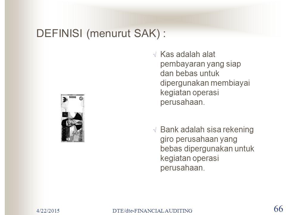 DEFINISI (menurut SAK) :