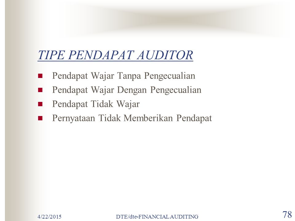 DTE/dte-FINANCIAL AUDITING