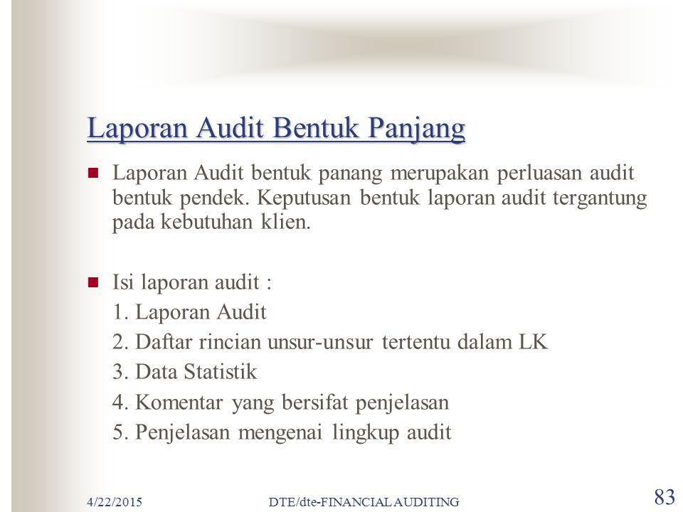 Laporan Audit Bentuk Panjang