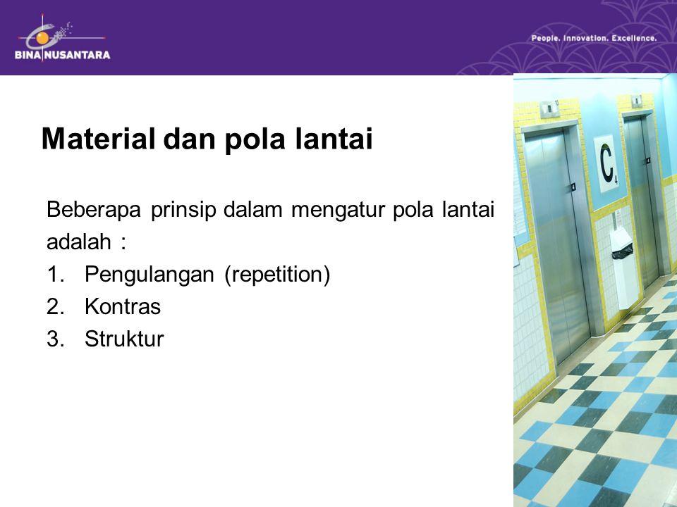 Material dan pola lantai