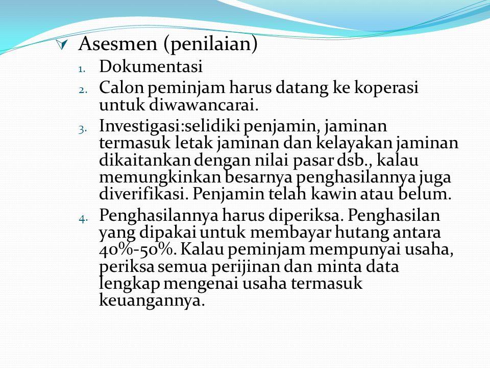 Asesmen (penilaian) Dokumentasi