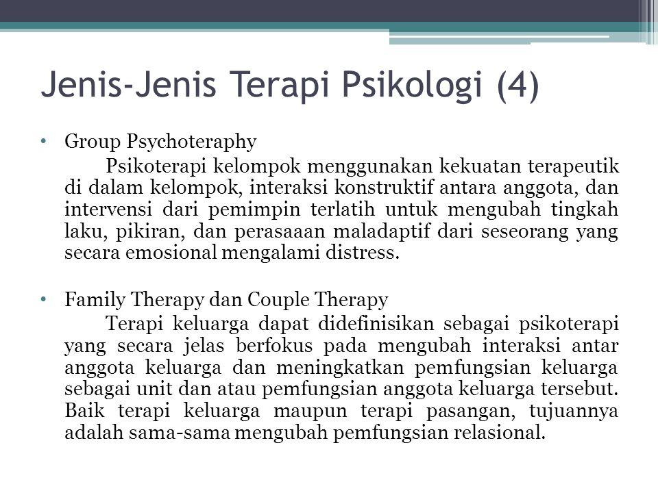 Jenis-Jenis Terapi Psikologi (4)