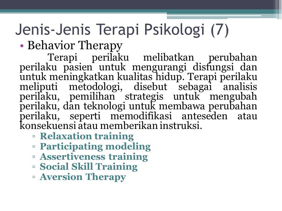 Jenis-Jenis Terapi Psikologi (7)
