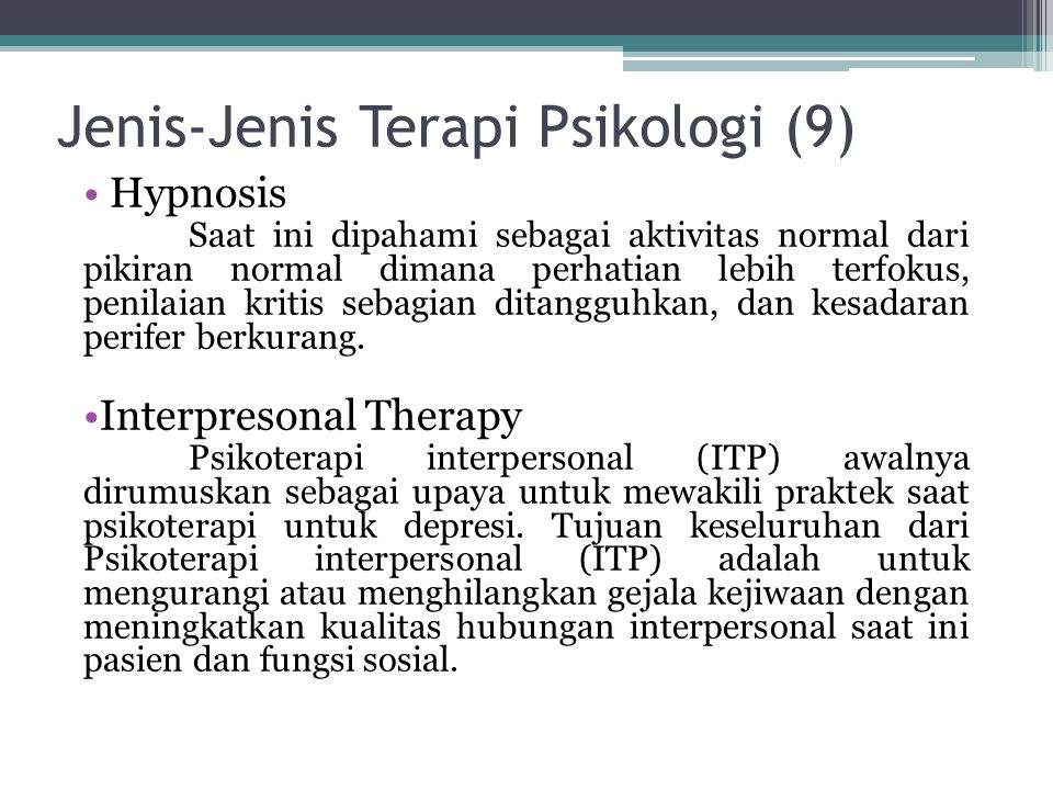 Jenis-Jenis Terapi Psikologi (9)