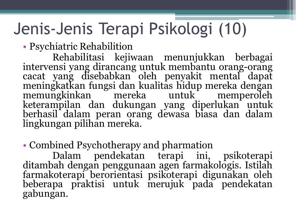 Jenis-Jenis Terapi Psikologi (10)
