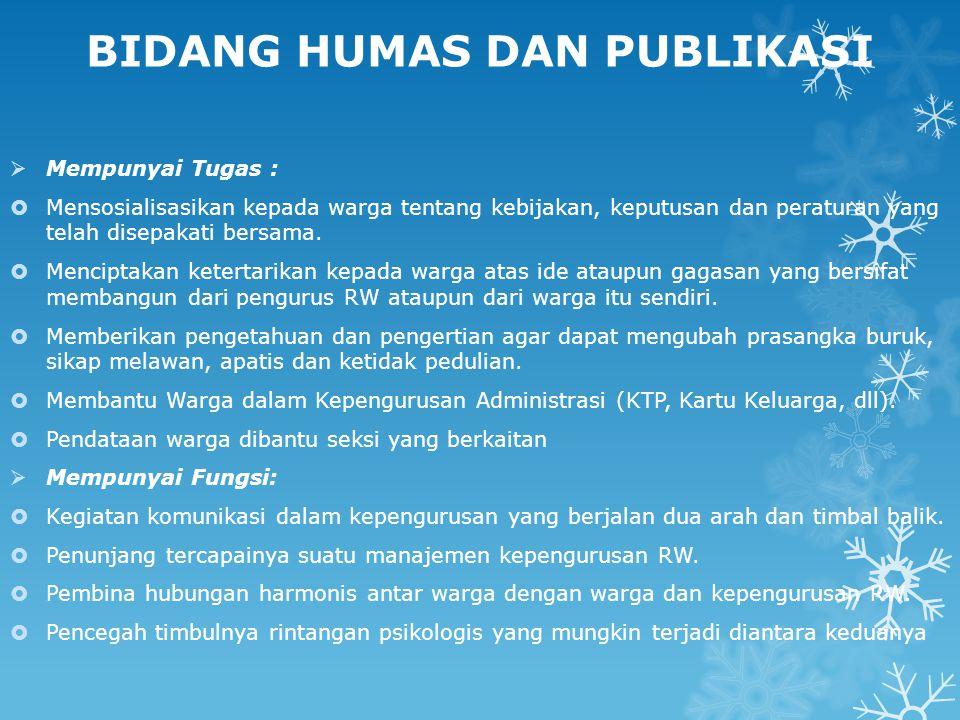 BIDANG HUMAS DAN PUBLIKASI