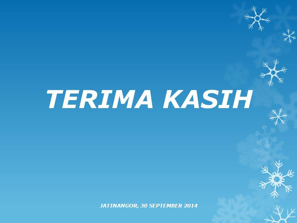 TERIMA KASIH JATINANGOR, 30 SEPTEMBER 2014