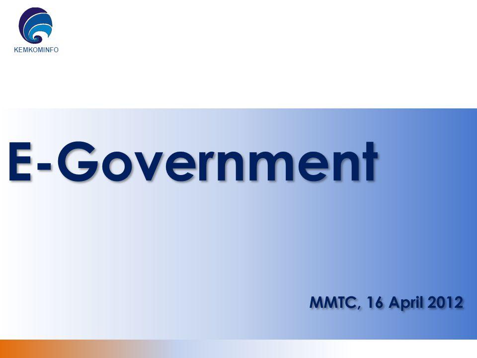 E-Government MMTC, 16 April 2012
