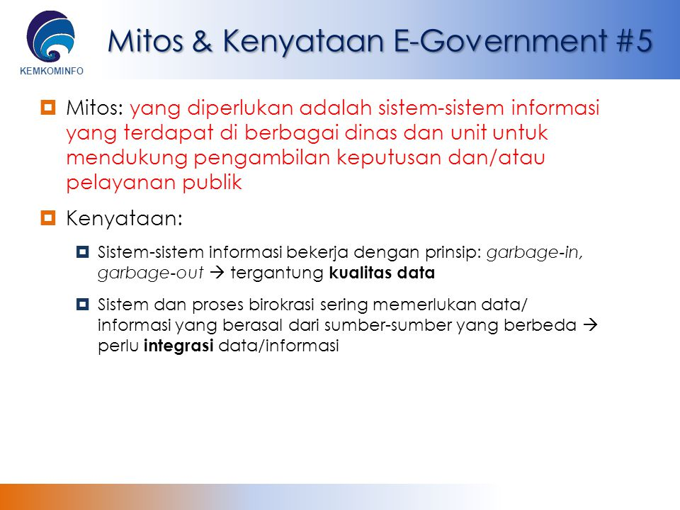 Mitos & Kenyataan E-Government #5