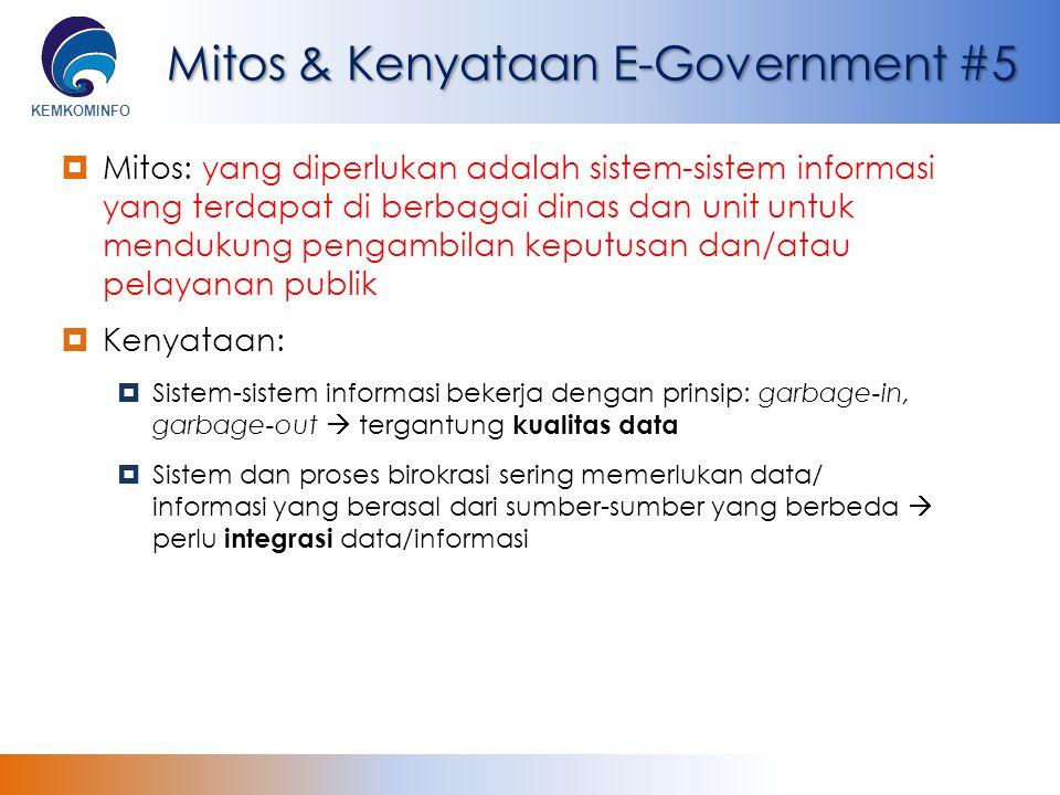 Mitos & Kenyataan E-Government #5