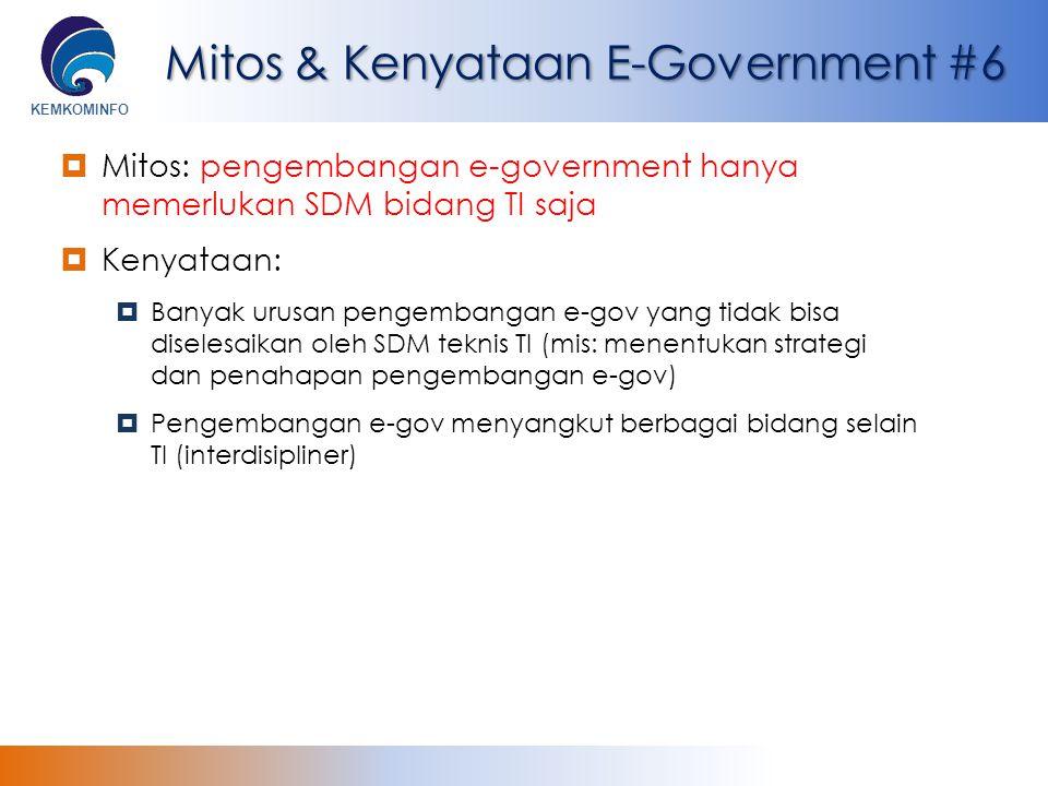 Mitos & Kenyataan E-Government #6