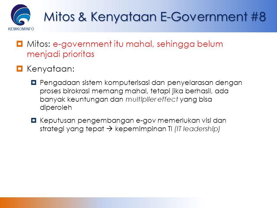 Mitos & Kenyataan E-Government #8