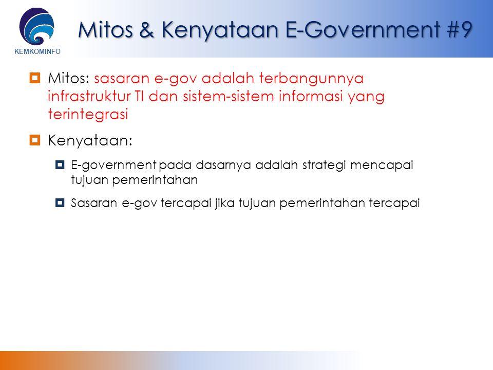 Mitos & Kenyataan E-Government #9