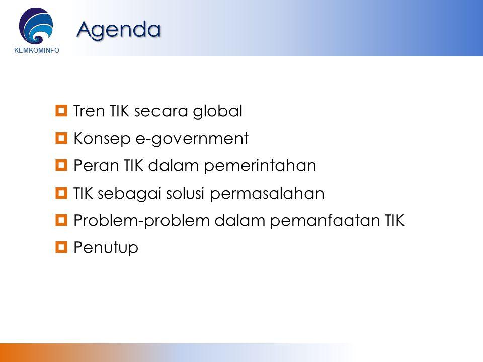 Agenda Tren TIK secara global Konsep e-government