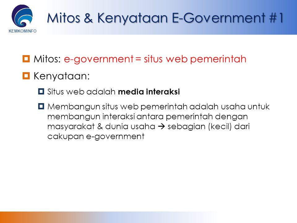Mitos & Kenyataan E-Government #1