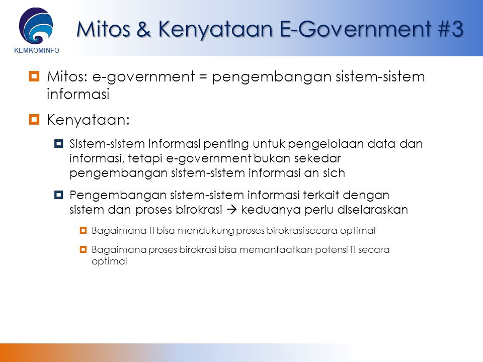 Mitos & Kenyataan E-Government #3