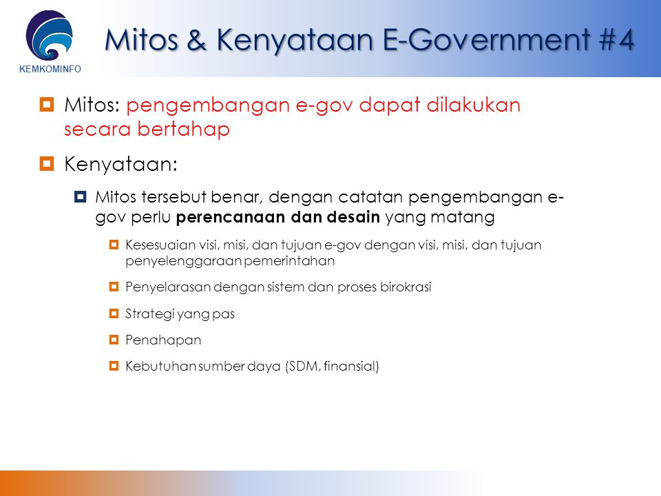 Mitos & Kenyataan E-Government #4