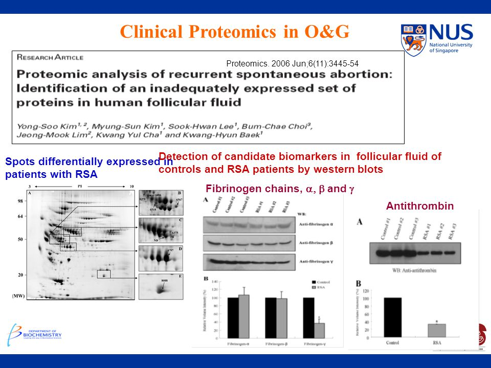Clinical Proteomics in O&G