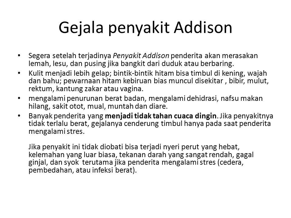 Gejala penyakit Addison