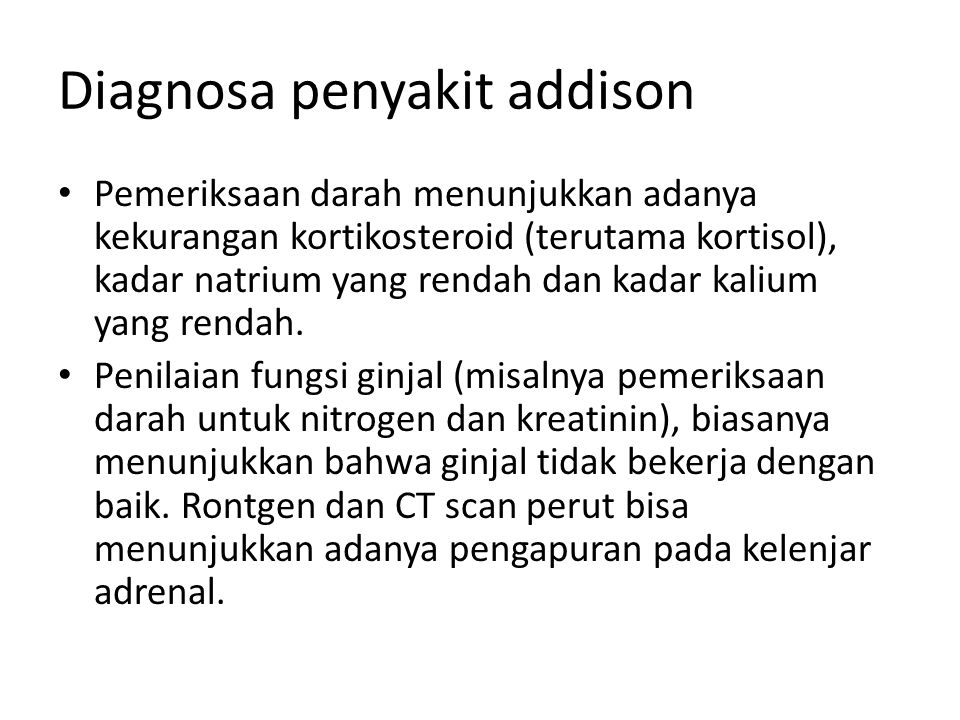 Diagnosa penyakit addison
