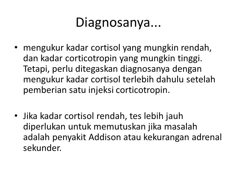 Diagnosanya...