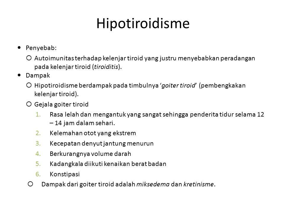 Hipotiroidisme Penyebab: