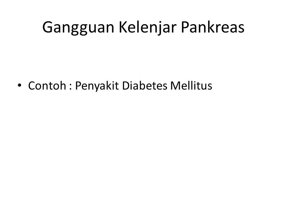 Gangguan Kelenjar Pankreas