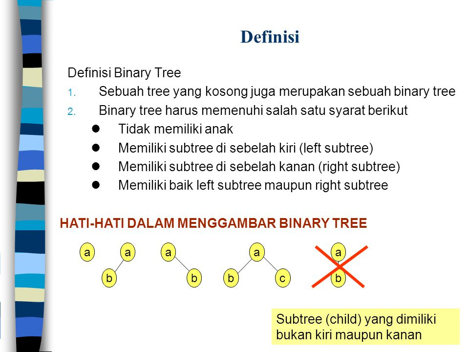 Definisi Definisi Binary Tree