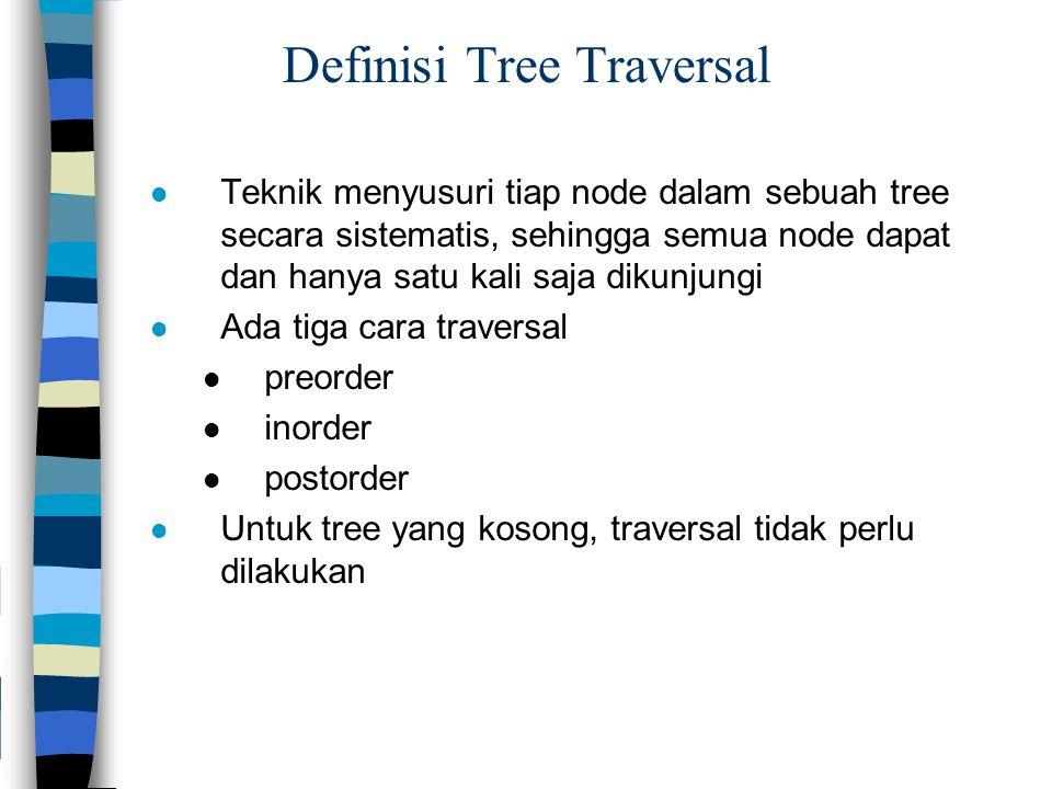 Definisi Tree Traversal