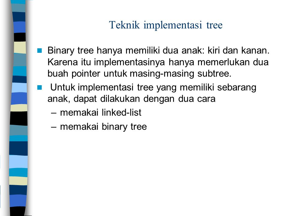 Teknik implementasi tree
