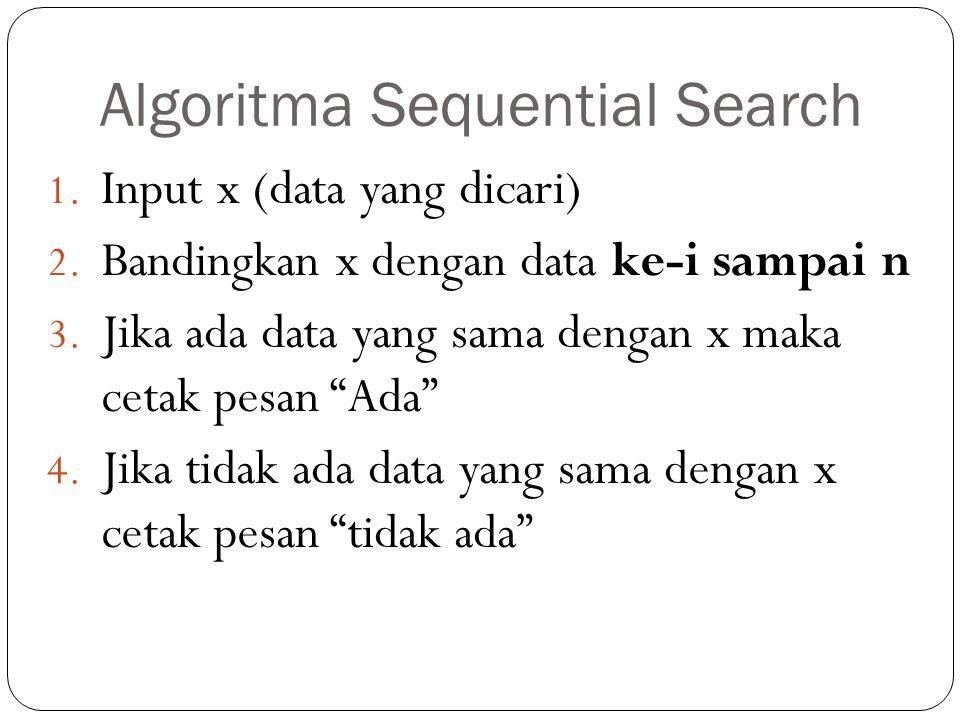 Algoritma Sequential Search