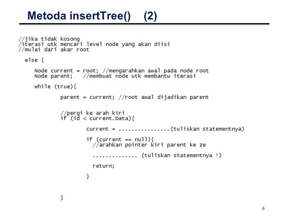 Metoda insertTree() (2)