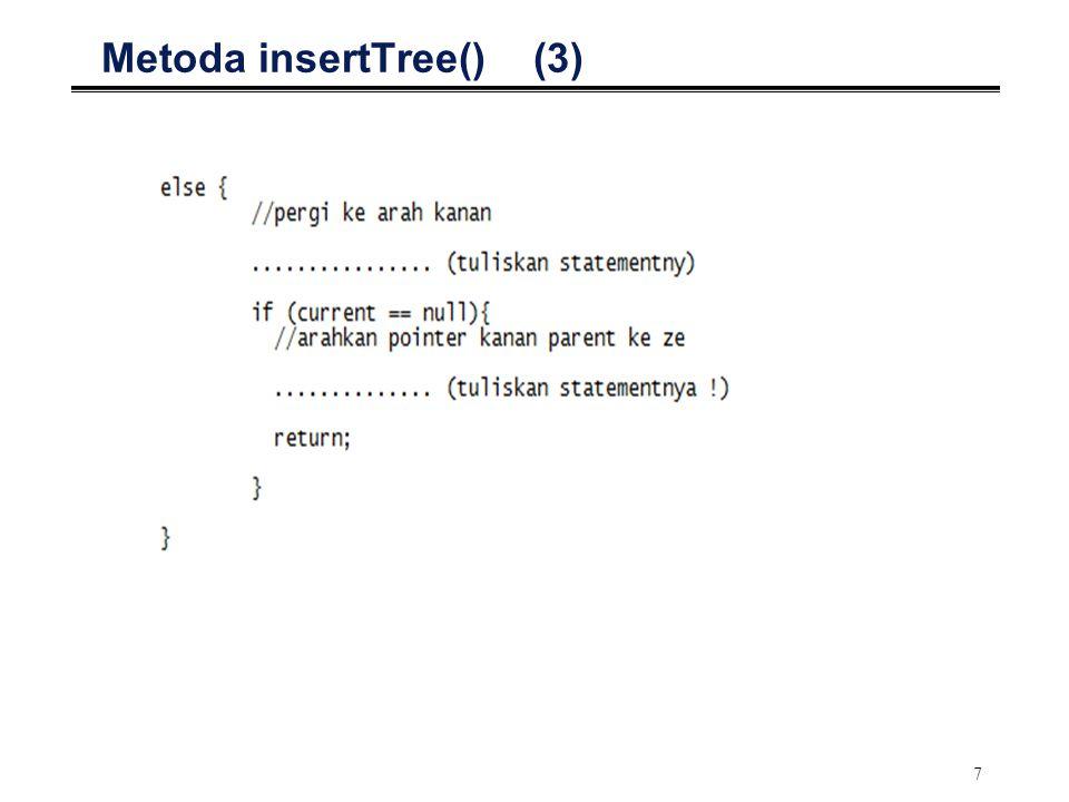 Metoda insertTree() (3)