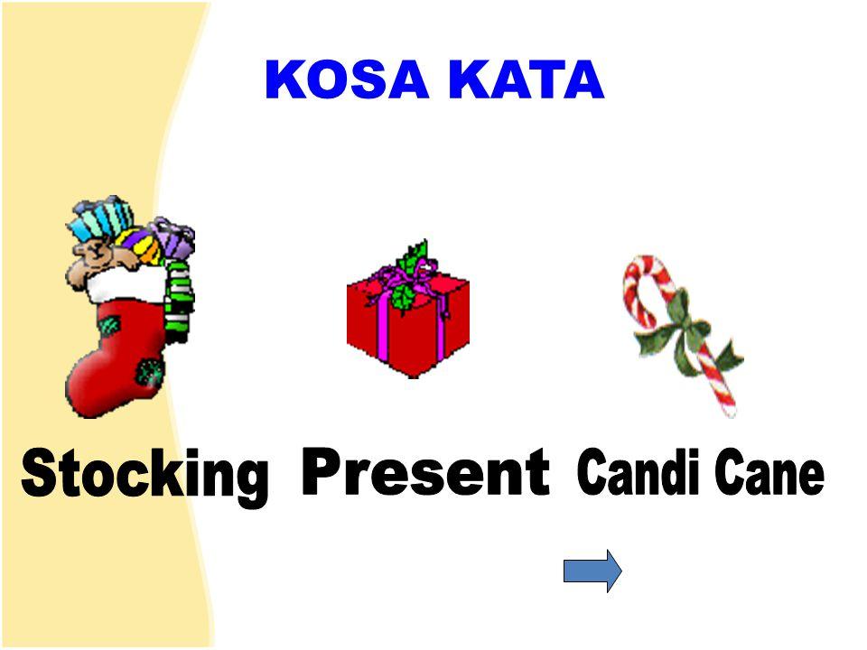 KOSA KATA Stocking Present Candi Cane